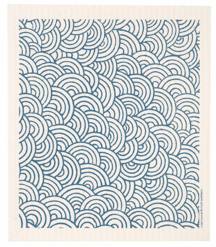 Swedish Dishcloth - Circles, Blue