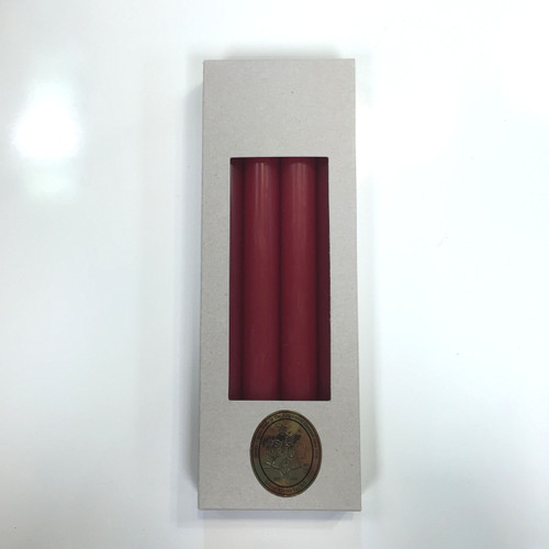 Red Taper Candles, 10Ó, by Kloster Lys Denmark