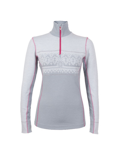 Dale of Norway Rondane Pullover, Ladies - Light Grey/White Mel/Allium, 92681-E