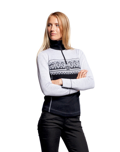 Dale of Norway Rondane Pullover, Ladies - Black/White Mel, 92681-F