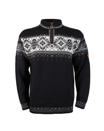 Dale of Norway Blyfjell Sweater - Black/Off White/Smoke/Raspberry, 91291-F
