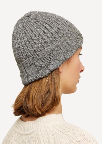 Linnea Oleana Textured Knitted Hat, 423D Dark Grey