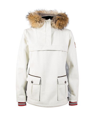 Dale of Norway Fjellanorakk Knitshell Jacket, Ladies - Off White/White Softshell, 82911-A