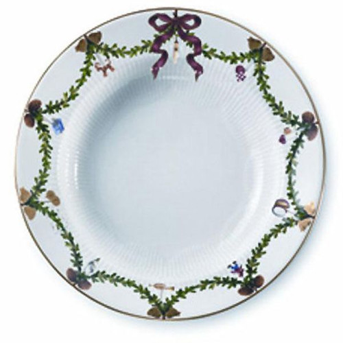 Royal Copenhagen Star Fluted Christmas Soup Plate-Large