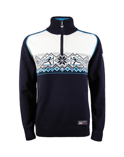 Dale of Norway Skiskytter (Biathlon) Sweater, Mens - Navy/Sochi Blue/Off White/Schiefer, 93071-C