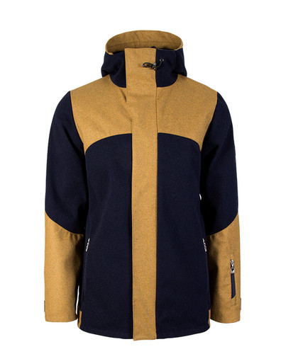 Dale of Norway Stryn Knitshell Jacket, Mens - Navy/Mustard, 85131-C