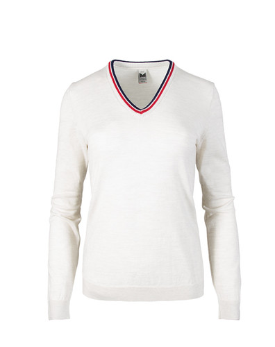 Dale of Norway Kristin Sweater, Ladies - Off White/Navy/Raspberry, 93181-A