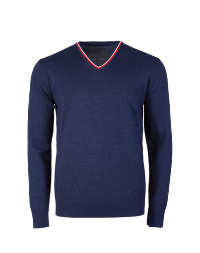 Dale of Norway Kristian Sweater, Mens - Navy Melange/Off White/Raspberry, 93131-C