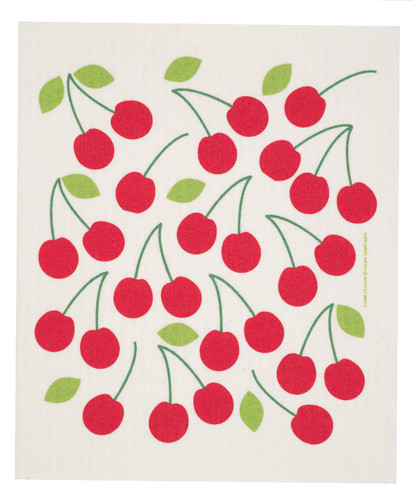 Swedish Dishcloth - Cherries