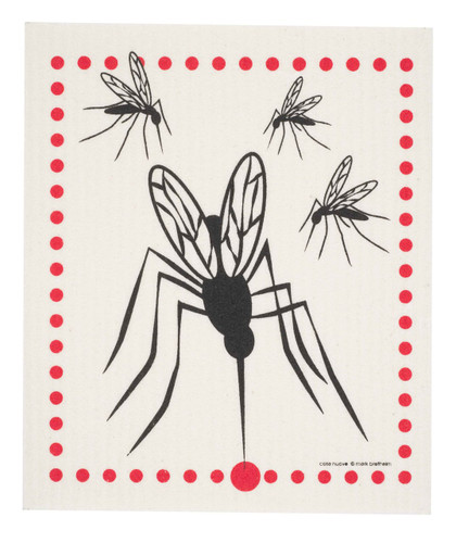 Swedish dish cloth, Mosquito design