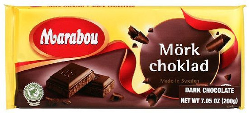 Marabou Dark Chocolate Bar, 200g, imported from Sweden