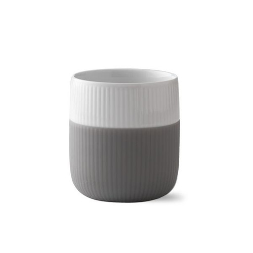 Royal Copenhagen Fluted Contrast Mug - Elephant Grey