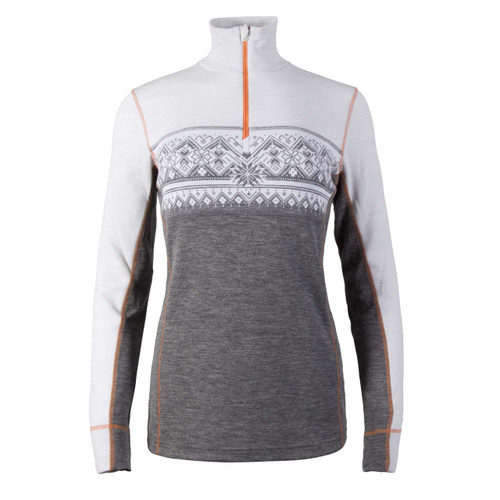 Dale of Norway Rondane Pullover, Ladies - Smoke/White/Orange Peel, 92681-T