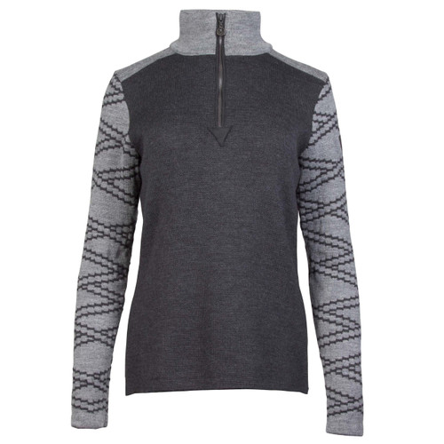 Dale of Norway Balder Pullover, Ladies - Dark Charcoal/Smoke, 93661-E