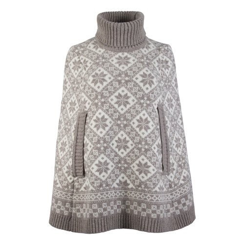Dale of Norway Rose Poncho, Ladies - Sand/Off White, 93391-P