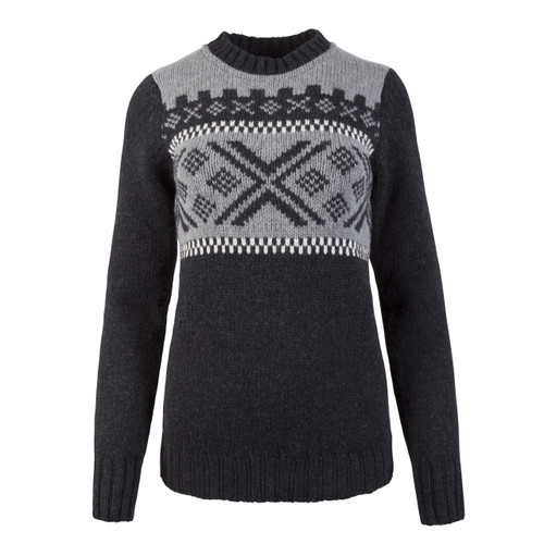 Dale of Norway Skigard Sweater, Ladies - Dark Charcoal/Off White/Smoke, 93411-E