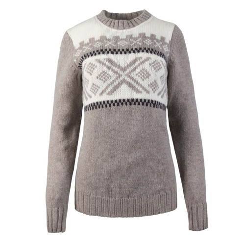 Dale of Norway Skigard Sweater, Ladies - Sand/Dark Charcoal/Off White, 93411-P