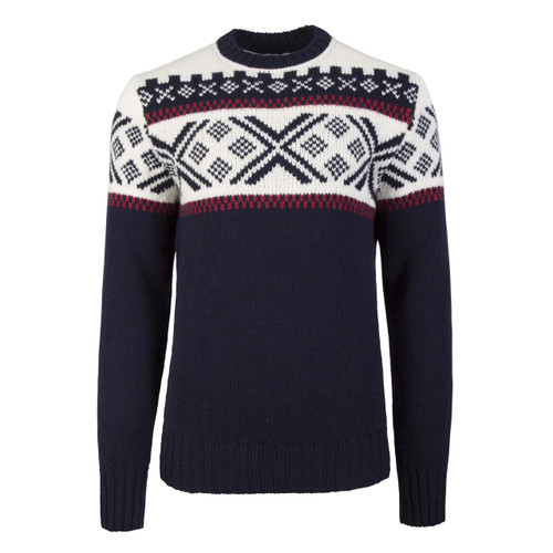 Dale of Norway Skigard Sweater, Mens - Navy/Raspberry/Off White, 93401-C