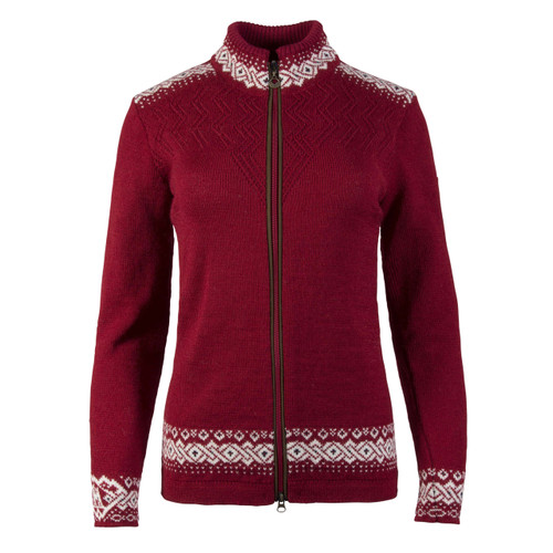 Dale of Norway Bergen Cardigan, Ladies - Red Rose/Off White/Navy, 83181-B