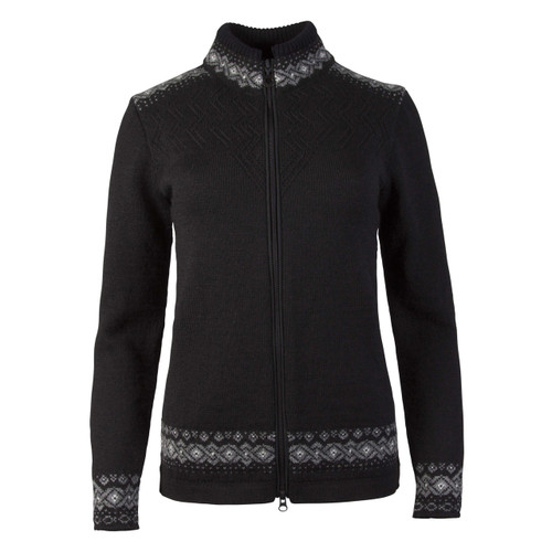 Dale of Norway Bergen Cardigan, Ladies - Black/Smoke/Off White, 83181-F