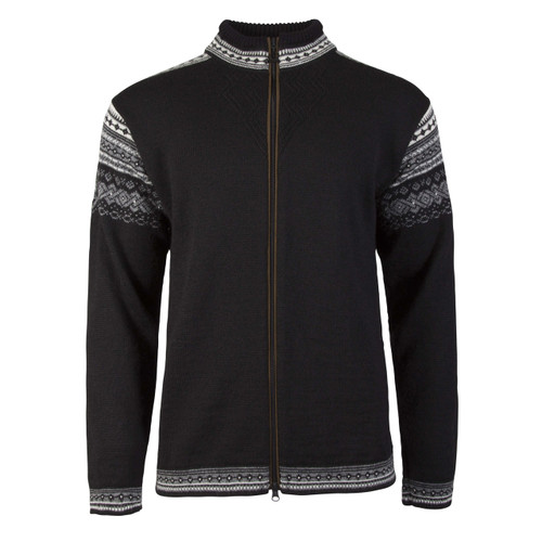 Dale of Norway Bergen cardigan, mens, in Black/Smoke/Off White, 83171-F, on sale at The Nordic Shop