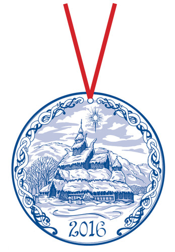 2016 Stav Church Ornament - Borgund. Made by Norse Traditions and available at The Nordic Shop.