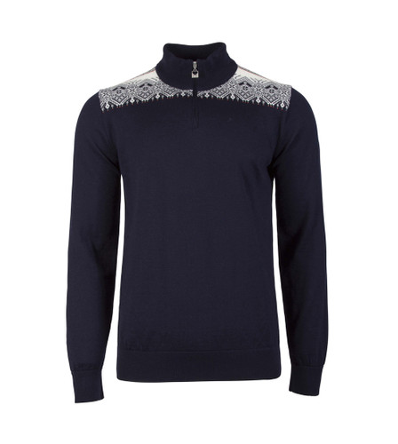 Dale of Norway Fiemme Sweater, Mens - Navy/Raspberry/Orange Peel/Peacock/Off White, 93421-C