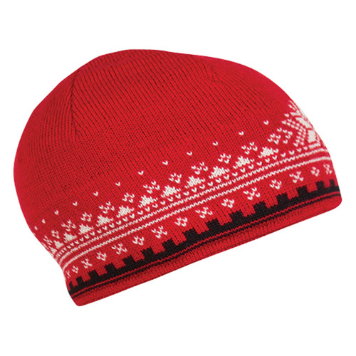Dale of Norway 125th Anniversary Hat - Raspberry/Black/Off White, 47931-I