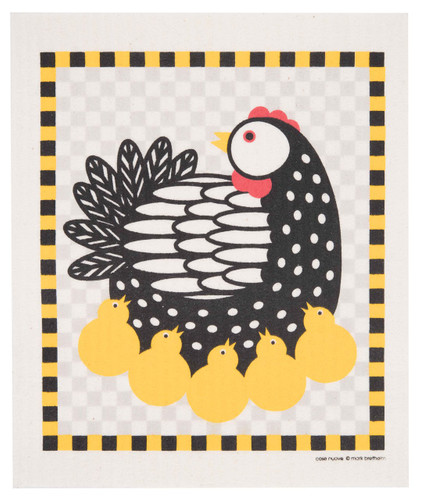 Swedish Dishcloth - Chickens