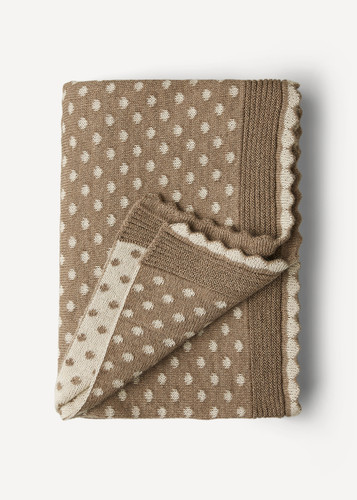 Lilly Oleana Alpaca Throw Blanket, 408BQ Beige/White