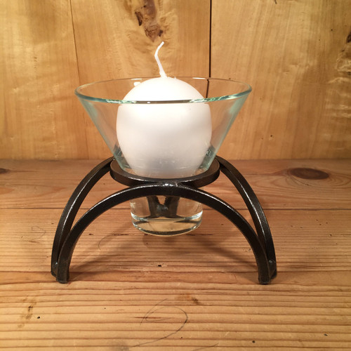 Danish Iron Sydney Arch One Cup Candle Holder
