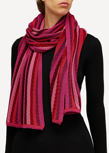 Else Oleana Striped Shawl, 323K Cerise