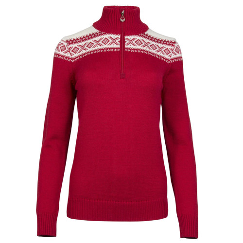 Dale of Norway Cortina Merino Sweater, Ladies - Raspberry/Off White, 93811-B