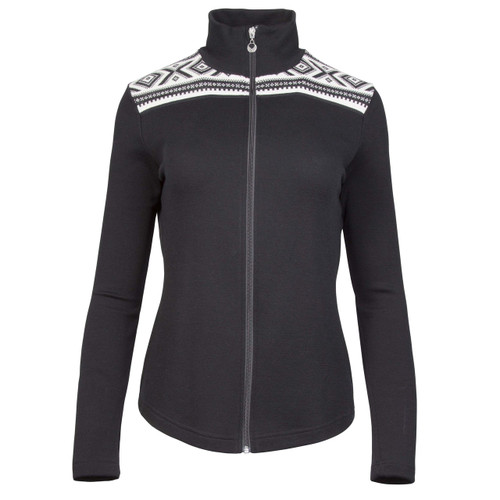 Dale of Norway Cortina Basic Cardigan, Ladies - Black/Off-White, 83261-F
