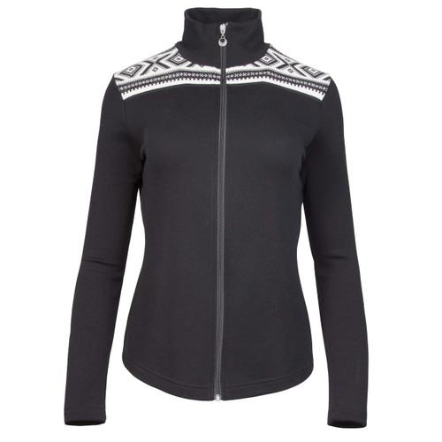 Dale of Norway Cortina Merino Cardigan, Ladies - Black/Off-White,  83311-F