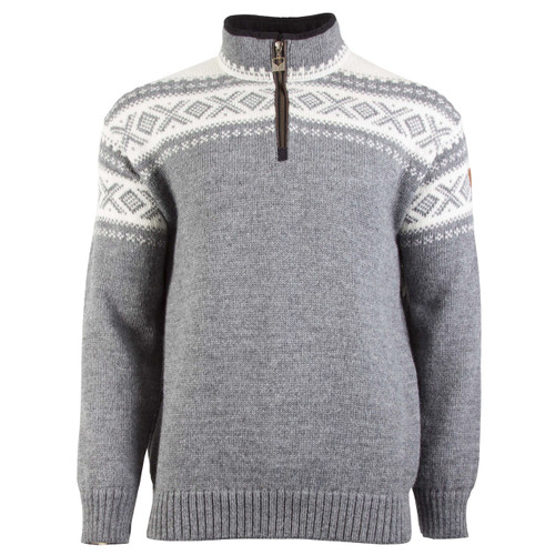 Dale of Norway Cortina Half Zip Sweater - Smoke/Off-White, 93561-E