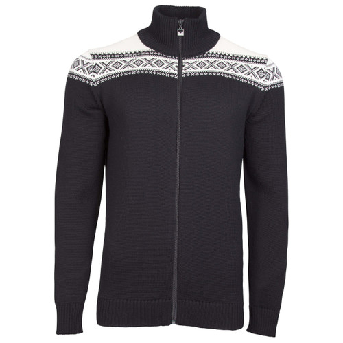 Dale of Norway Cortina Merino Cardigan, Mens - Black/Off-White, 83321-F