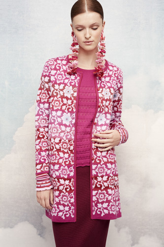 Dagny Oleana Long Cardigan , 344V Pinks