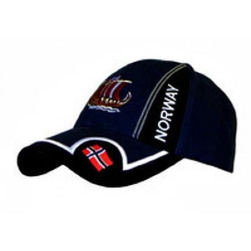 Norway Viking Ship Ball Cap in Navy