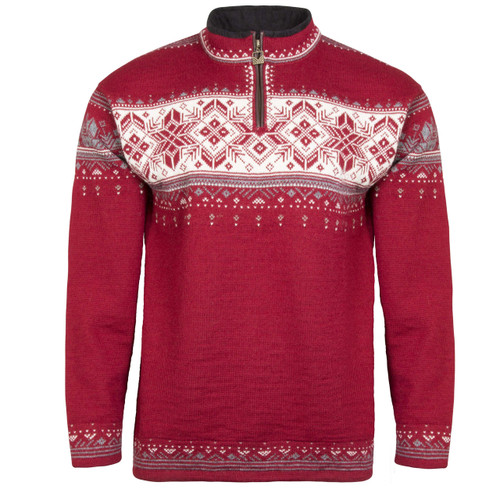 Dale of Norway Blyfjell Sweater - Red/Rose/Off-White/Mountainstone/Smoke, 91291-B