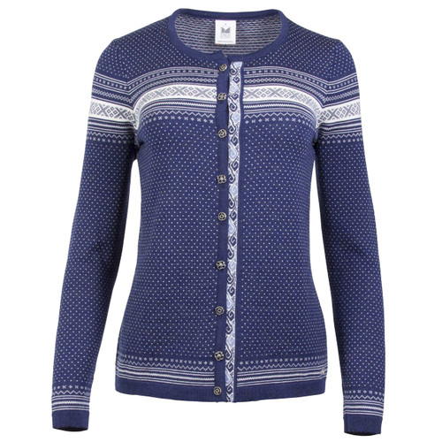 Dale of Norway Hedda Cardigan, Ladies - Electric Storm/Off White/Blue Shadow, 83401-H