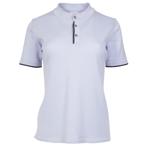 Dale of Norway Fredrikke T-shirt, Ladies - Ice Blue/Navy/Off White Mel, 93841-D