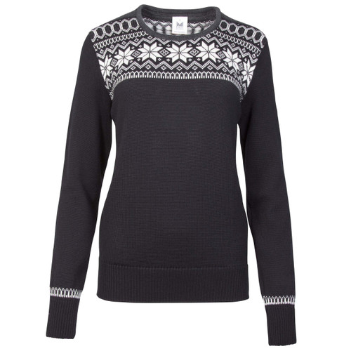 Dale of Norway Garmisch Sweater, Ladies - Black/Off White/Dark Charcoal/Allium, 92601-F
