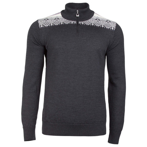 Dale of Norway Fiemme Sweater, Mens - Dark Charcoal/Grau Vig/Raspberry/Off White, 93421-T