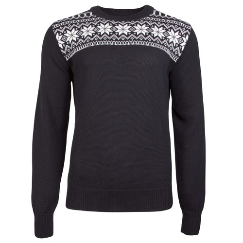 Dale of Norway Garmisch Sweater, Mens - Black/Dark Charcoal/Off White, 92611-F