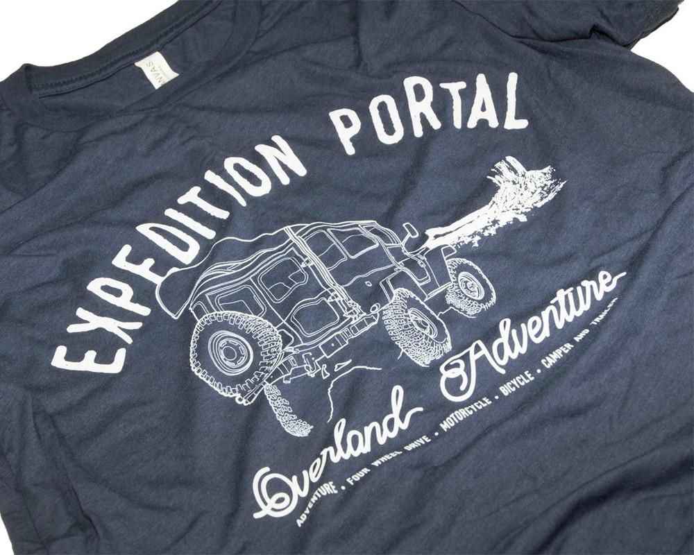 Expedition Portal Overland Adventure T-shirt (Navy Blue)