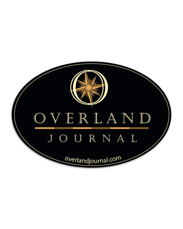 Overland Journal Oval Decal (Last chance)