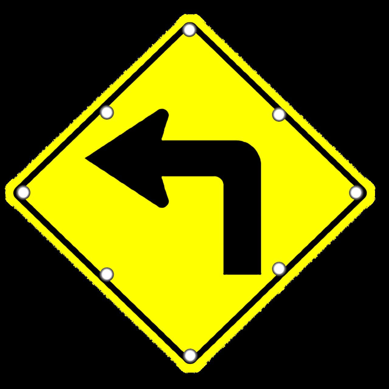 Flashing Led W1 1l Left Turn Dornbos Sign Safety Inc