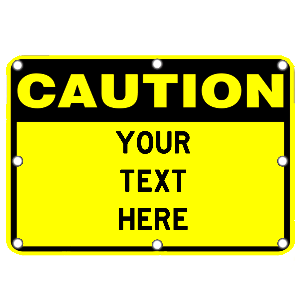 Decorative Signs For Your Home Led Custom Caution Sign Dornbos Sign Amp Safety Inc