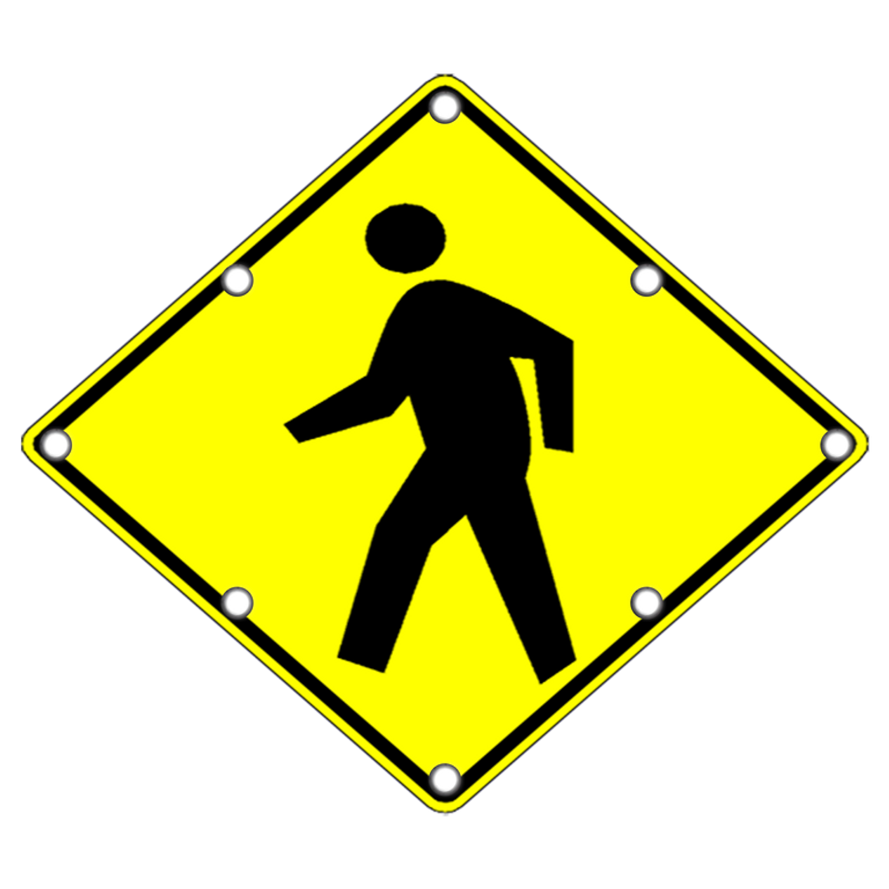 Flashing pedestrian crossing sign w11 2 sign for De signs